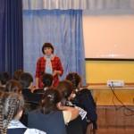 Специалист по делам молодёжи Гибашева И.Р. на лекции в МБОУ СОШ с.Урняк